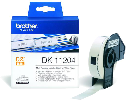 Brother  DK-11204 17 mm x 54 mm wit