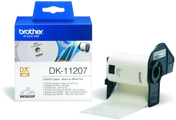 Brother  DK-11207 58 mm x 58 mm wit