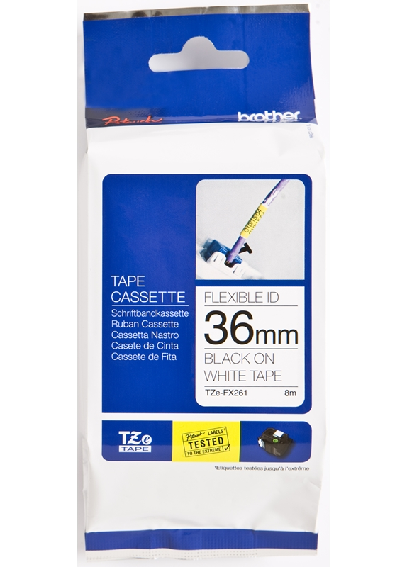 Brother TZE-FX261 flexible tape zwart
