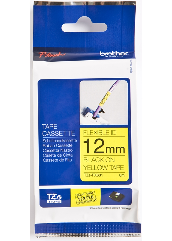 Brother TZE-FX631 flexible tape zwart