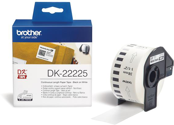 Brother  DK-22225 38 mm x  30.48 M wit