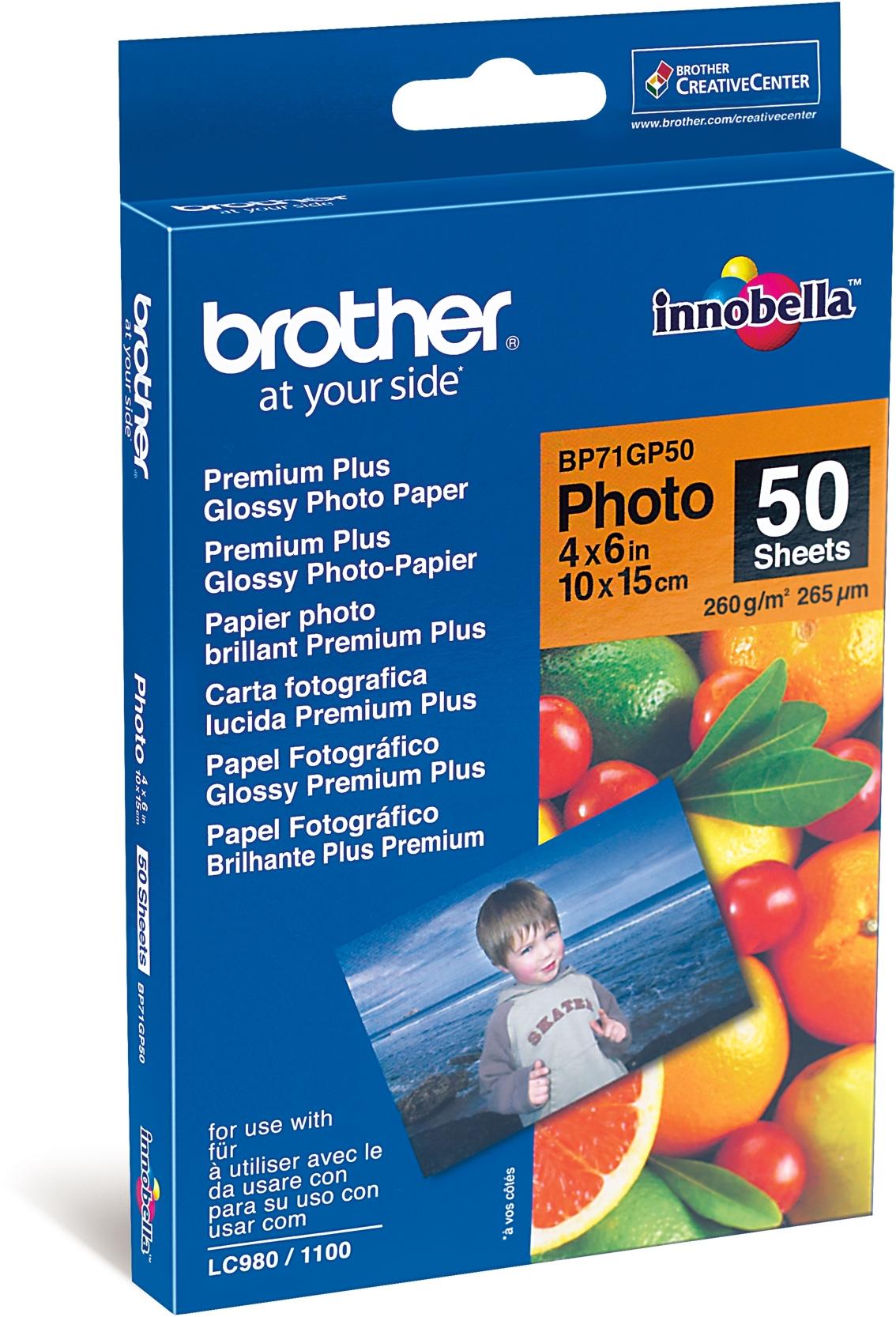 Brother  BP71GP50 Glans | 50 vellen 260 gr/m²