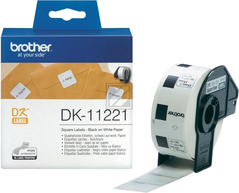 Brother  DK-11221 23 mm x 23 mm  wit