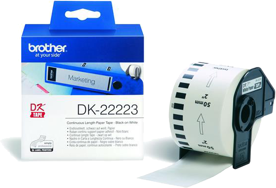 Brother  DK-22223 50 mm x   wit