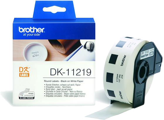 Brother  DK-11219 12 mm x 12 mm  wit