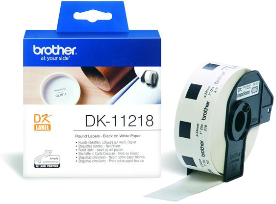 Brother  DK-11218 24 mm x 24 mm  wit