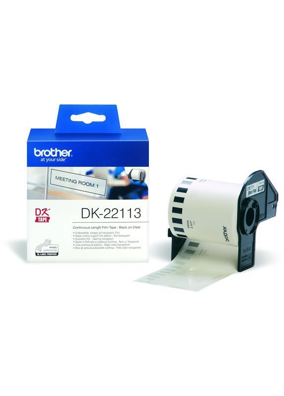 Brother  DK-22113 62 mm x  15.24 m transparant