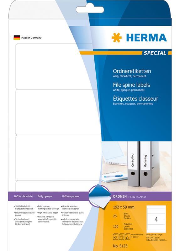 Herma 5123 192x59MM