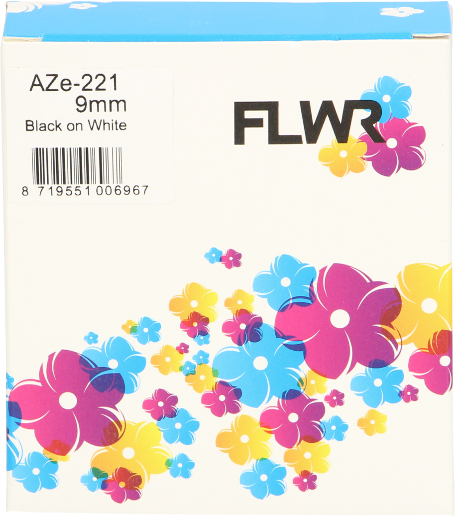 FLWR Brother TZE-221 zwart