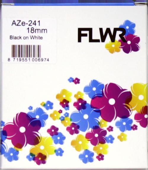 FLWR Brother TZE-241 zwart