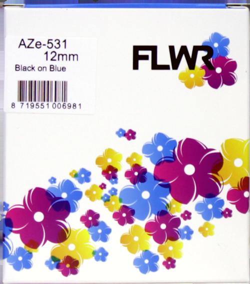 FLWR Brother TZE-531 zwart