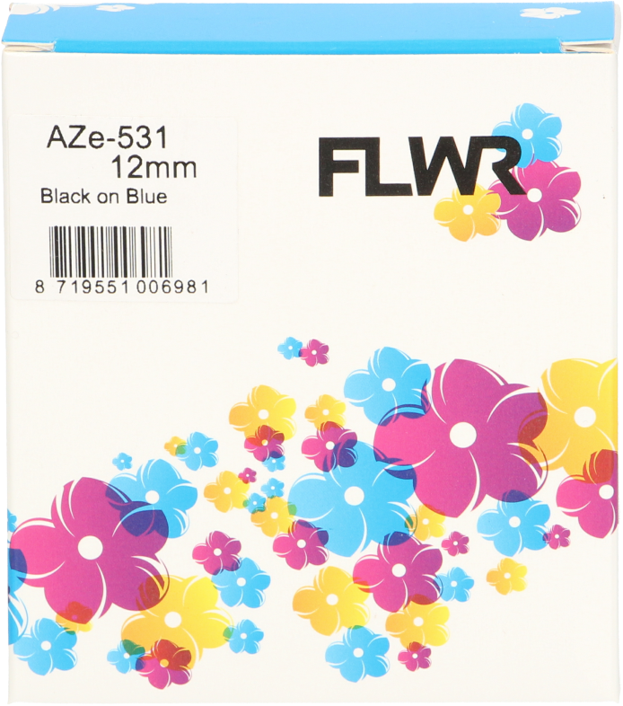 FLWR Brother TZE-531 zwart