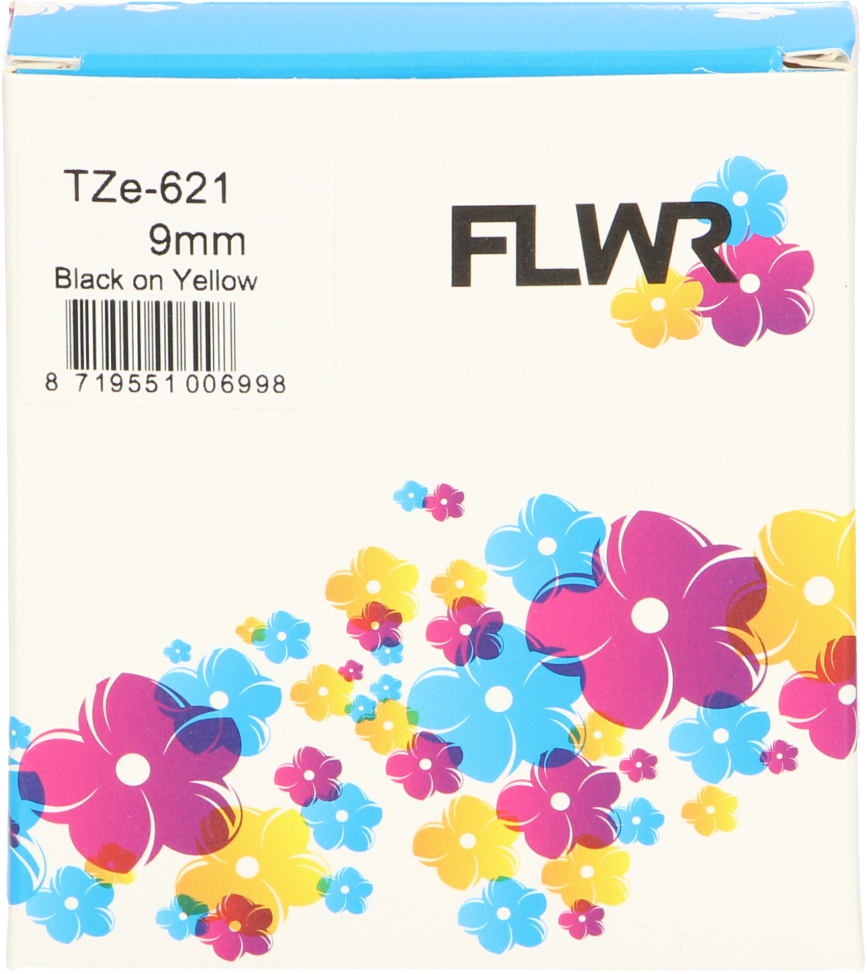 FLWR Brother TZE-621 zwart