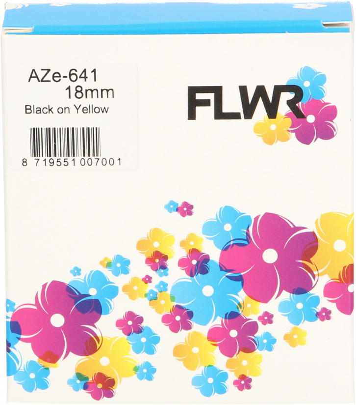 FLWR Brother TZE-641 zwart