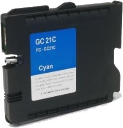 Huismerk Ricoh GC-21C cyaan