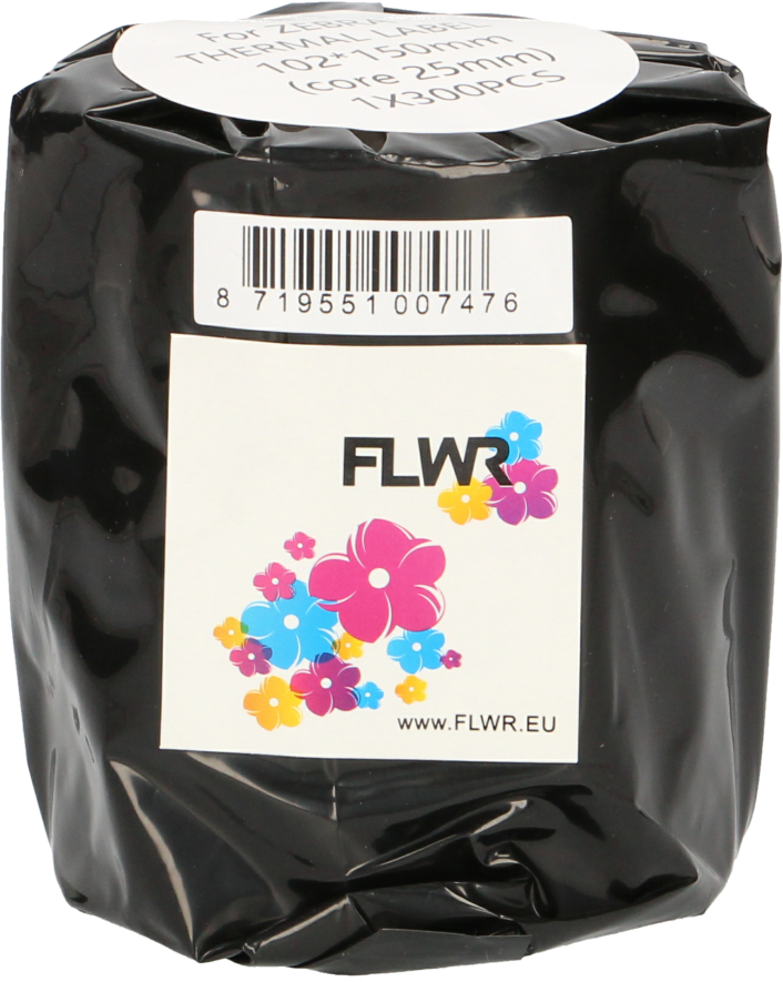 FLWR Zebra verzendetiketten 102x150 wit