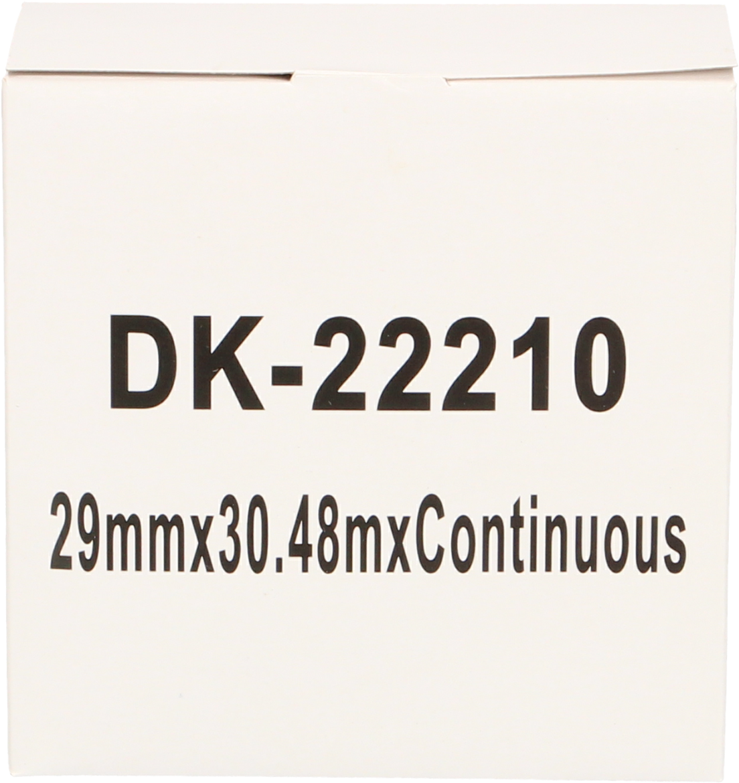 Huismerk Brother DK-22210 wit
