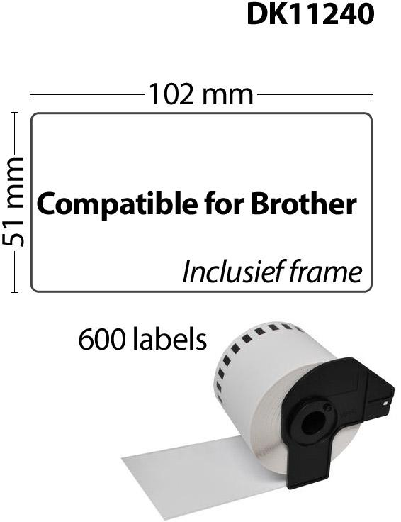 Brother DK-11240 wit