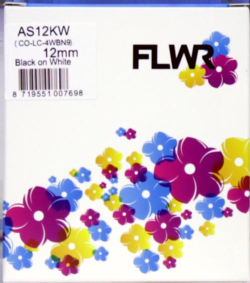 FLWR Epson LC-4WBN9 BK-WH zwart