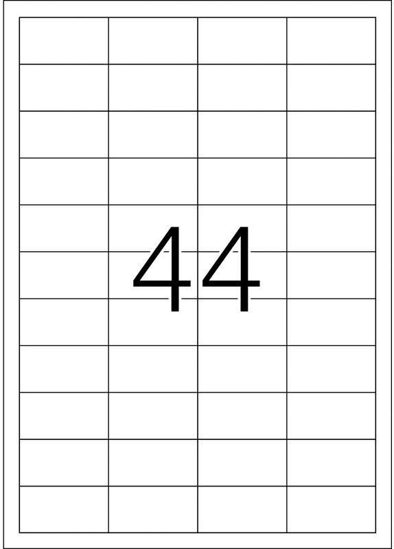 Herma 4272 48,3x25,4MM