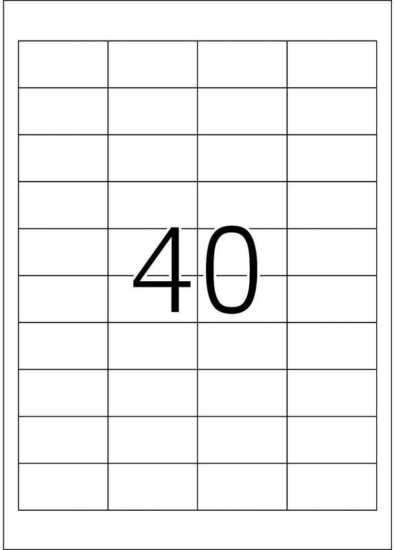 Herma 4474 48,5x25,4MM