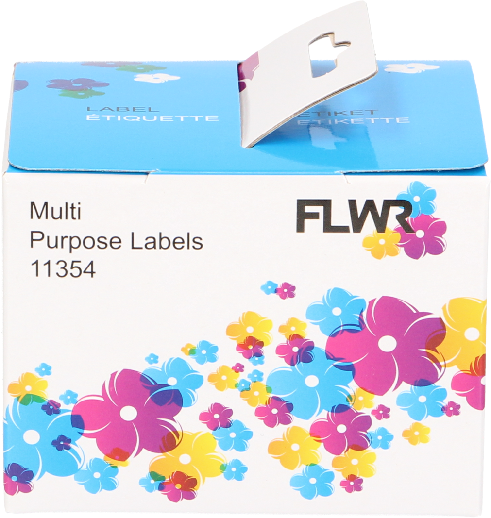 FLWR Dymo 11354 permanente Multi functionele Labels wit