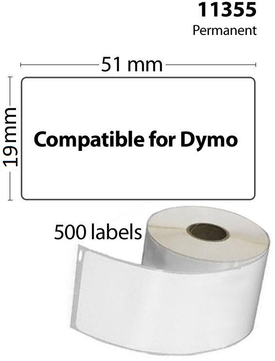 FLWR Dymo 11355 Multi functionele Labels wit