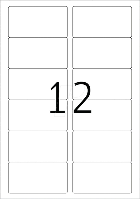 Herma 4666 88,9x46,6 MM