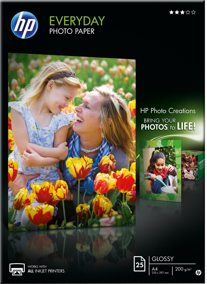 HP  Everyday fotopapier 25 vel Glans | 1 stuks 200 gr/m²