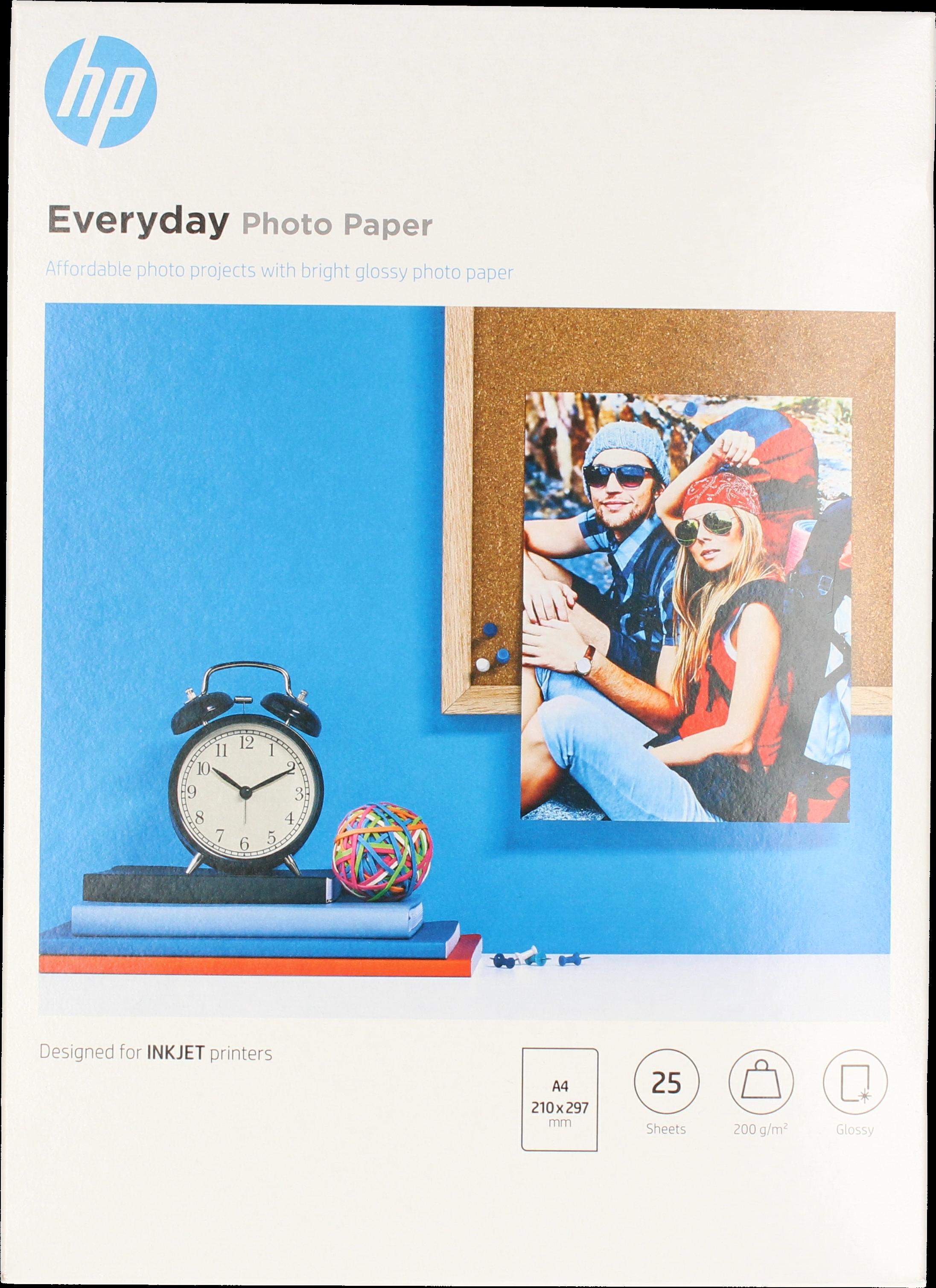 HP  Everyday fotopapier 25 vel Glans | A4 | 200 gr/m² 1 stuks