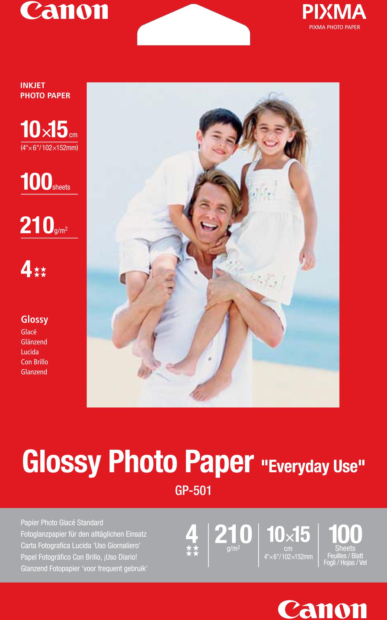 Canon GP-501 A6 Glanzend fotopapier wit